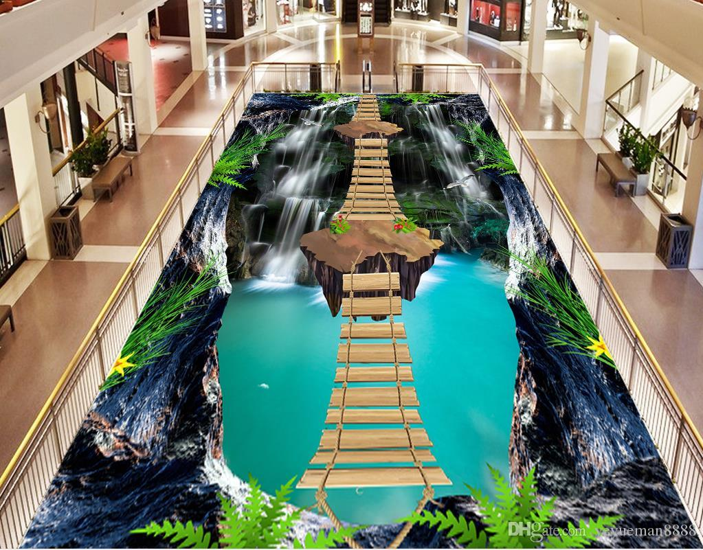 3d Flooring Custom Wallpaper Scenery For Walls Cliffs