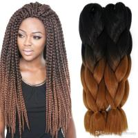 24inch 100g Synthetic Braiding Hair Two Tone Ombre ...