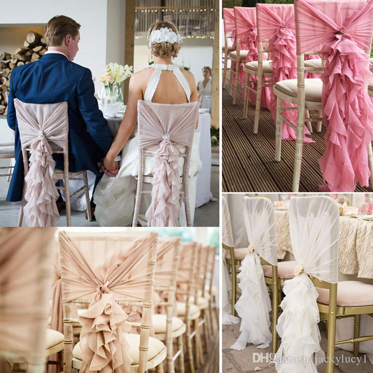 couture chair covers and events swing restaurant 2019 upscale white ivory pink chiffon sash bow for weddings banquet event decorations supplies from jackylucy1 4 03 dhgate com