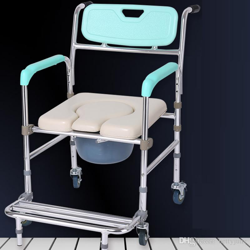 folding chair nepal outdoor chairs for balcony wheelchair commode aluminum alloy elderly stroke hemiplegia handicapped disabled people ...