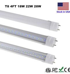 t8 led tube lighting 4ft 4 foot 18w 22w 28w smd 2835 fluorescent 4ft fluorescent light fixture wiring [ 1000 x 1000 Pixel ]