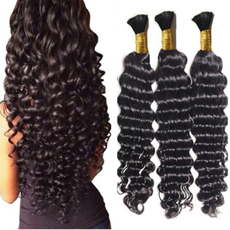 Loose Deep Wave Human Braiding Hair Bulk No Weft Crochet