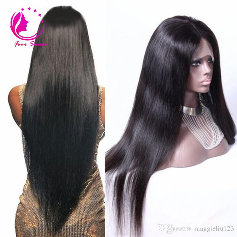 Long Silky Straight Lace Front Wig 12 28 Inch Human Hair
