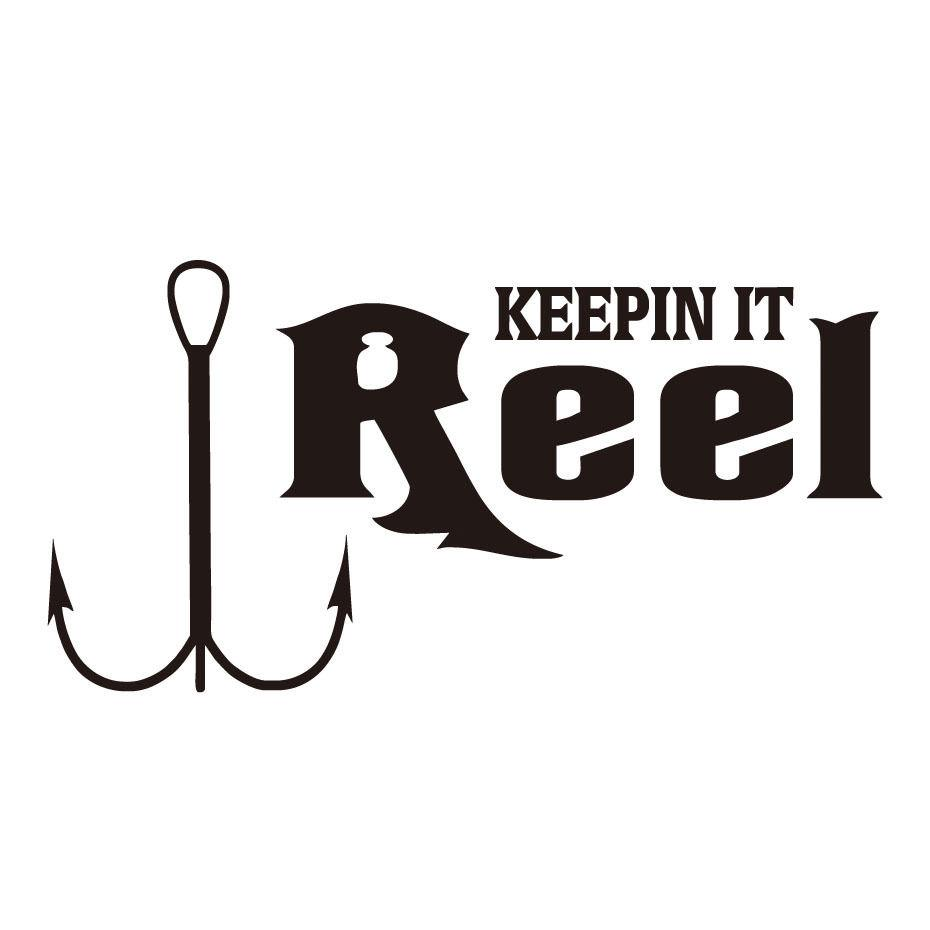 2019 KEEPIN IT Reel Fishing Fishhook Car Decal Vinyl