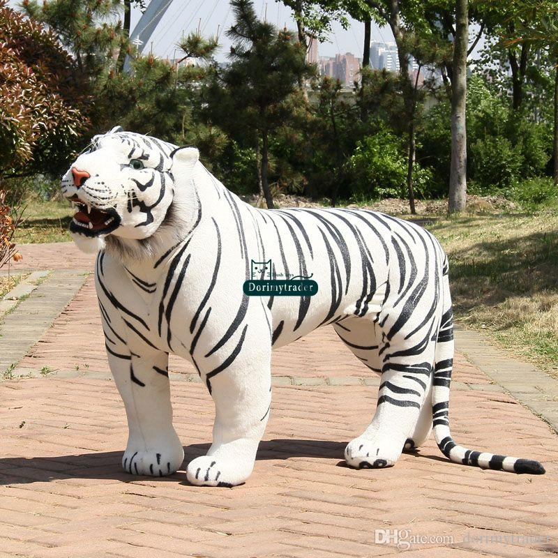 2019 Dorimytrader Huge 110cm Soft Simulation Animal White Tiger Plush Toy Forest Animal Tigers Photography Props House Decoration Present Dy60732 From