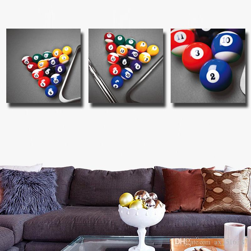 Billiards Canvas Print Painting Modern Canvas Wall Art For Home ...