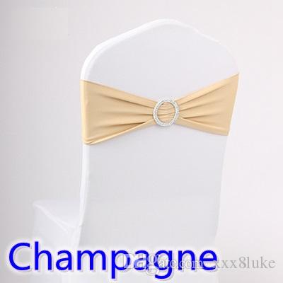 champagne banquet chair covers 2 seat outdoor table and chairs colour wedding sash spandex band with diamond buckle for lycra bow tie ribbon on sale birthday sashes