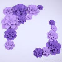 Purple Foam Flower Wall Decor