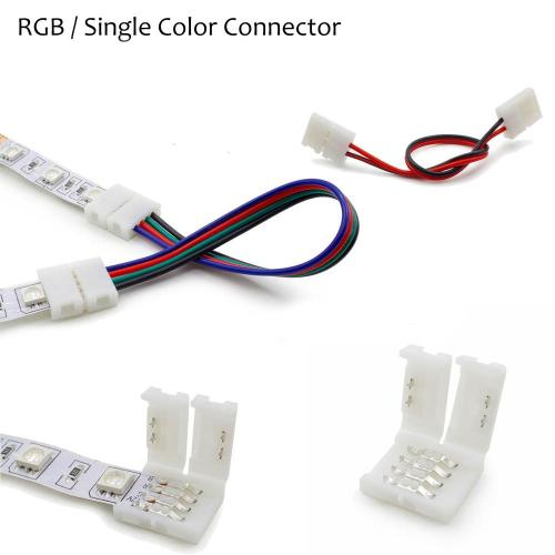 small resolution of wholesale 2pin 4pin 8mm 10mm rgb single color solderless wire angle connector cable adapter for 3528 5050 led flexible strip light led strip controller