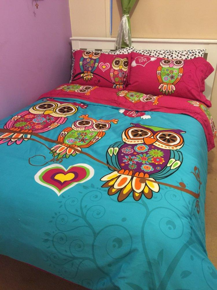 Wholesale 3Twin Single Kids Owl Bedding Queen King Size