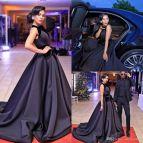 Celebrity Black Prom Dress