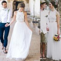 Discount 2017 Cheap Simple Wedding Dresses A Line Western ...