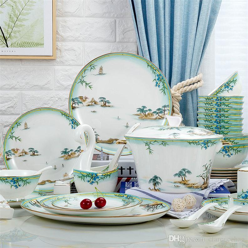 kitchen dish sets refinish sink tableware dinnerware dishes plates ceramic and china household items bone cheap