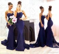 Hot Navy Blue Simple 2017 Bridesmaid Dresses Sweetheart ...