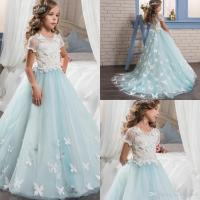Pretty Lace Little Bride Flower Girl Dresses Short Sleeves ...