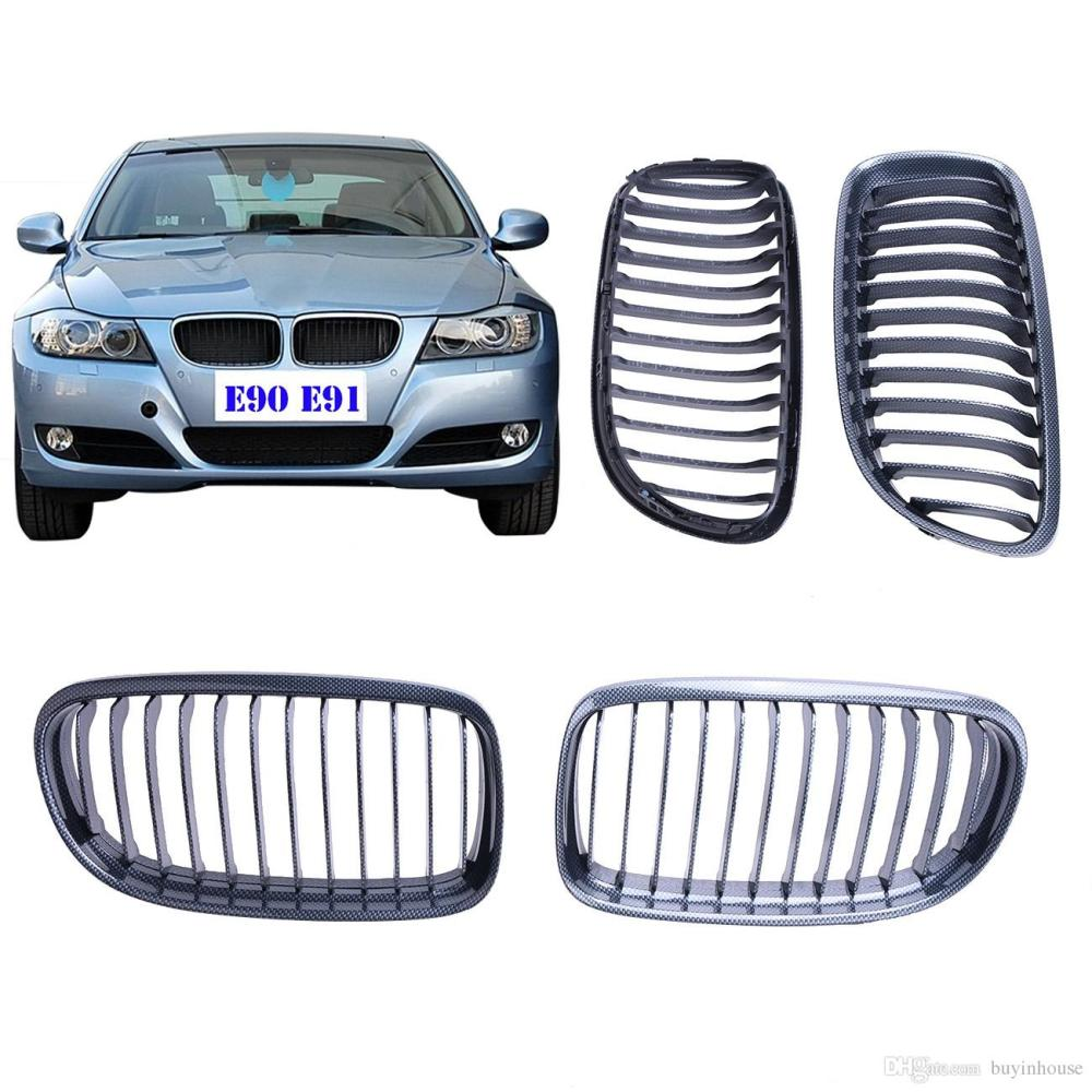 medium resolution of 2019 for bmw e90 lci 2009 2010 2011 carbon fiber look front grill kidney grilles lattice for 3 series 328i 325i 323i m sport p294 from buyinhouse