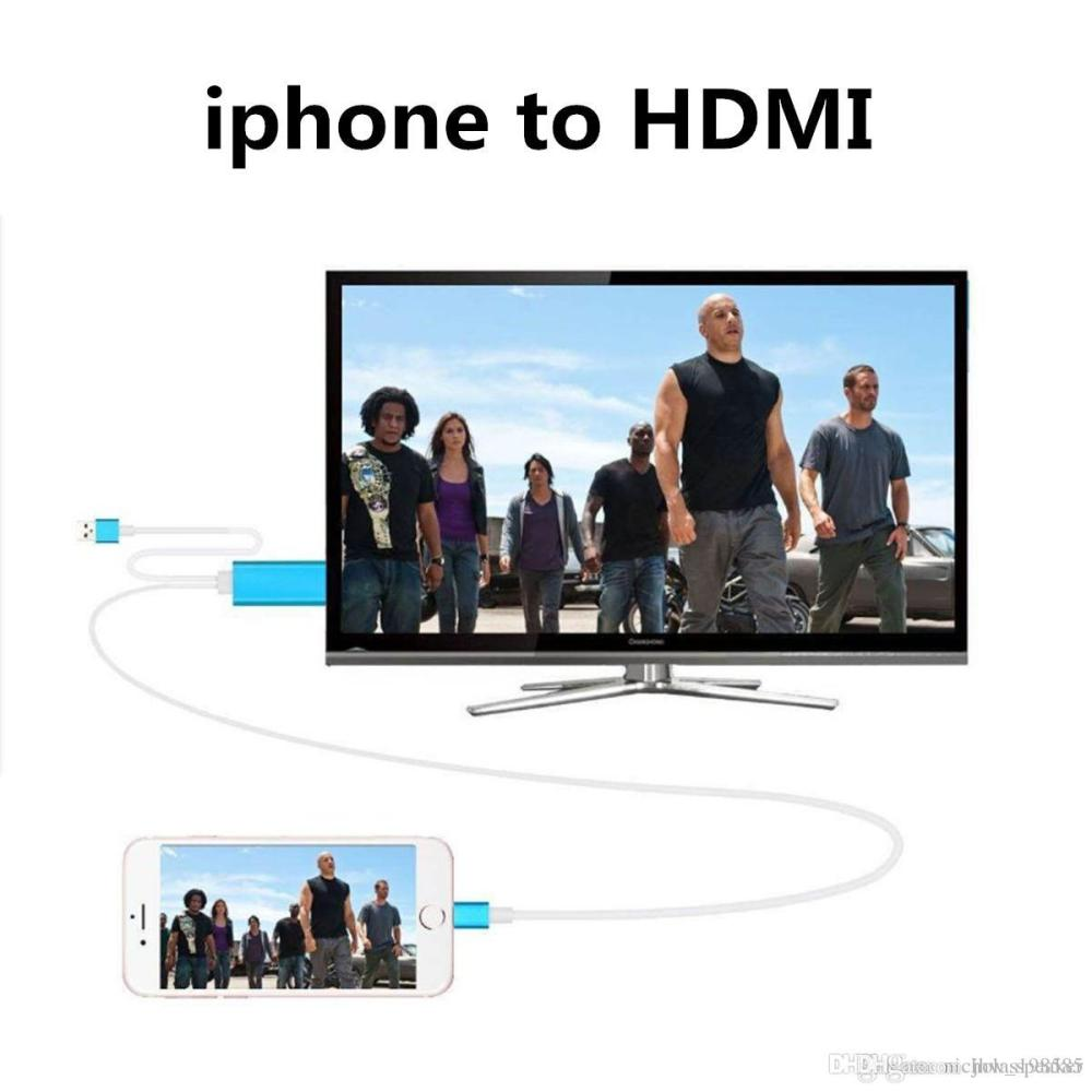 medium resolution of 2019 2m 6ft high speed aluminum hdmi hdtv av cable audio cables connectors adapter for iphone 5 5s se 6 6s plus ipad support hd 1080p connection from