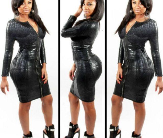 Plus Size Bbw Dress Women Clothing Sexy Black Snakeskin Faux Leather Bandage Dress Summer New Zipper Bodycon Dress Sexy Black Dresses Bandage Dress Bodycon