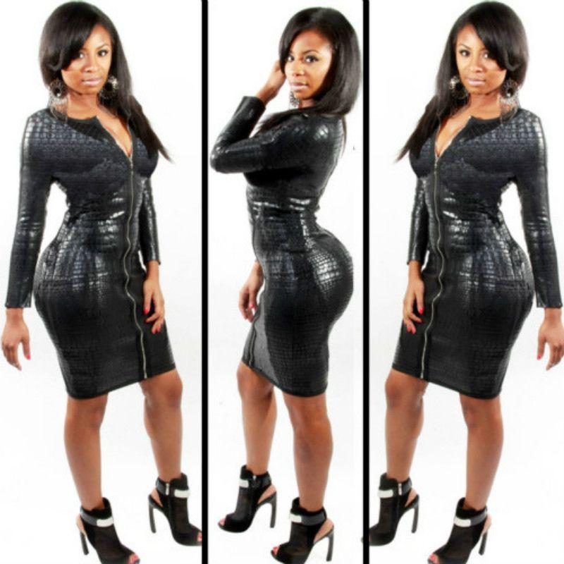 Cheap Thick Black Girls Dresses Best Sexy Cheap Black Spandex Dresses