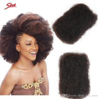 Afro Kinky Curly Brazilian Bulk Human Hair For Braiding