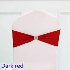 Dark Red Chair Sashes Green Wing Back Colour Tie Bands Lycra Sash Bow Ribbon For Wedding Party Banquet Decoration Sale With Shiny Belt