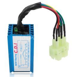 scooter cdi wiring diagram 2019 blue square plug 6 pin racing cdi box for 150cc [ 1000 x 1000 Pixel ]