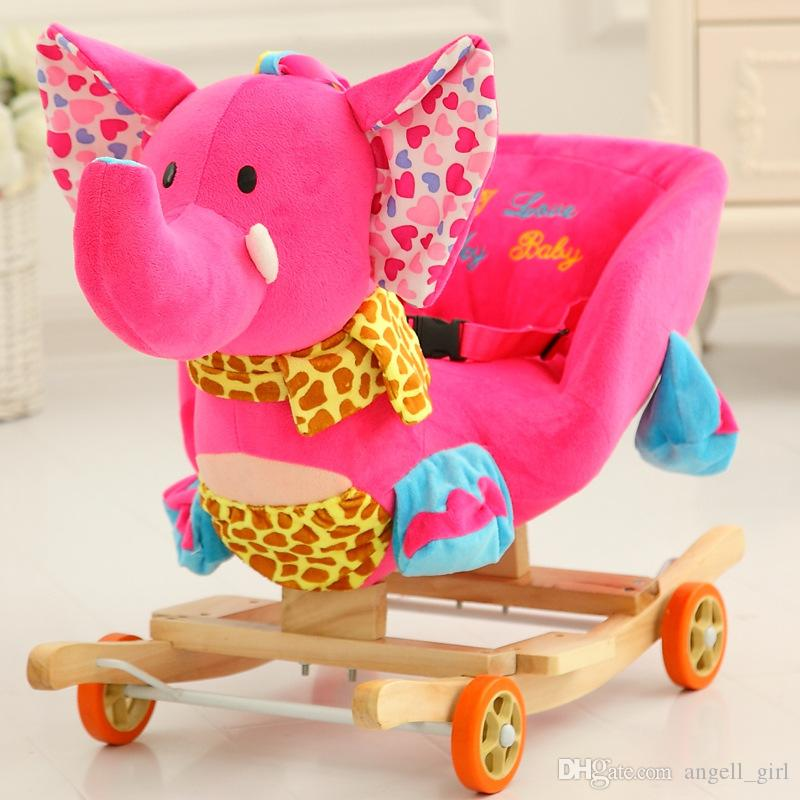 plush animal rocking chairs brown computer chair 2019 toy lovely animals horse creative gift small trojan wooden kids toys baby gifts from angell girl 165 83 dhgate