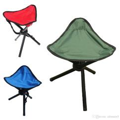 Folding Chair Legs Chairs With Cushion 3 Tripod Stool Outdoor Camping Hiking Foldable Picnic Fishing Triangle Seat Ultralight Fold Clearance Patio