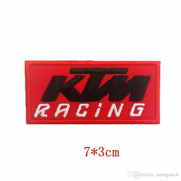 2019 Ktm Racing Orange Logo Embroidered Iron&sew Patch