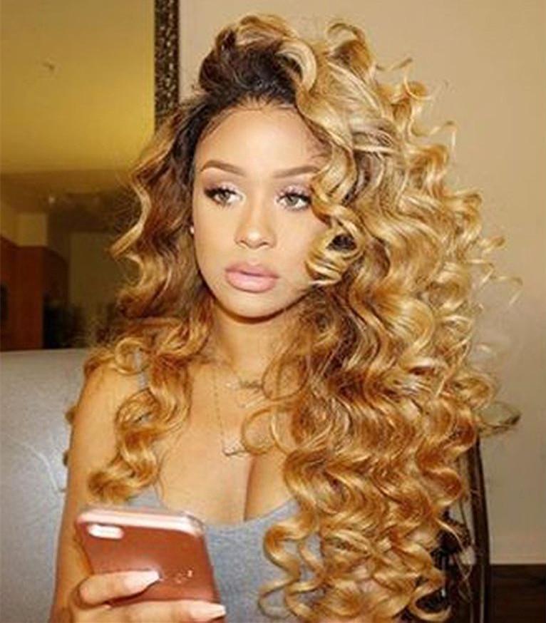 2019 Two Tone Human Hair Bundles Ombre Loose Deep Wave