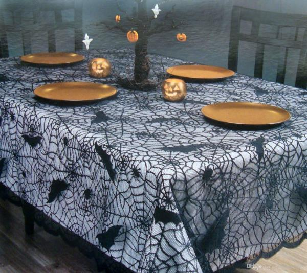 Round Lace Tablecloth Halloween