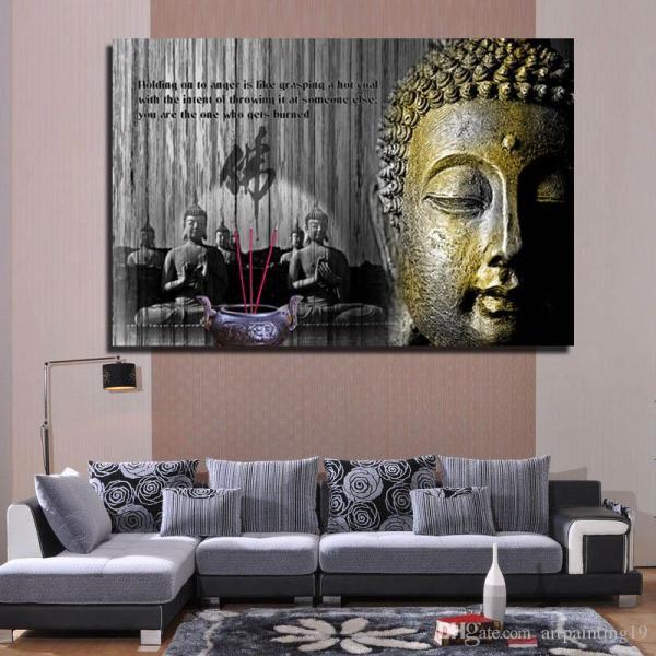 2018 Classical Big Buddha Painting For Home Decor Wall ...