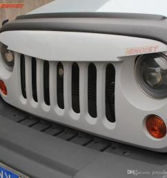 2019 high quality abs front racing grilles for jeep wrangler jk 2007 2015 from jerrychoo 121 38 dhgate com [ 900 x 900 Pixel ]