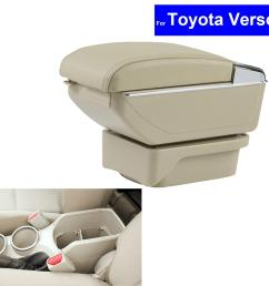 leather car center console armrest storage box for toyota verso 2011 2012 2013 2014 2015 armrests auto interior accessories for cars interior accessories  [ 1200 x 1200 Pixel ]
