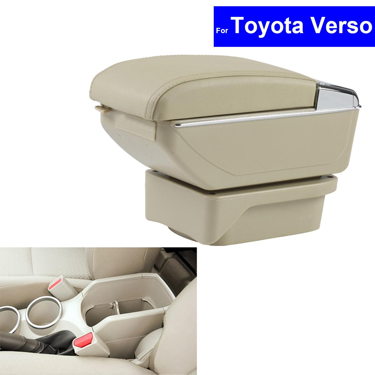 hight resolution of leather car center console armrest storage box for toyota verso 2011 2012 2013 2014 2015 armrests auto interior accessories for cars interior accessories