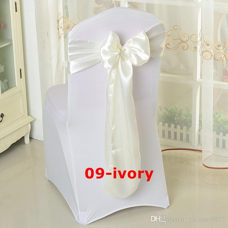 ivory chair covers spandex mickey mouse desk uk color satin sash for wedding cover folding fabric from yaoxun5825 21 46 dhgate com