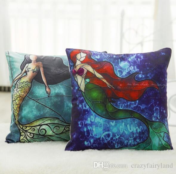 large square sofa cushions mayfair leather exquisite printing super soft velvet cushion mermaid pillow case without the core 45cm top1776 outdoor patio pillows