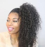 drawstring human hair ponytail