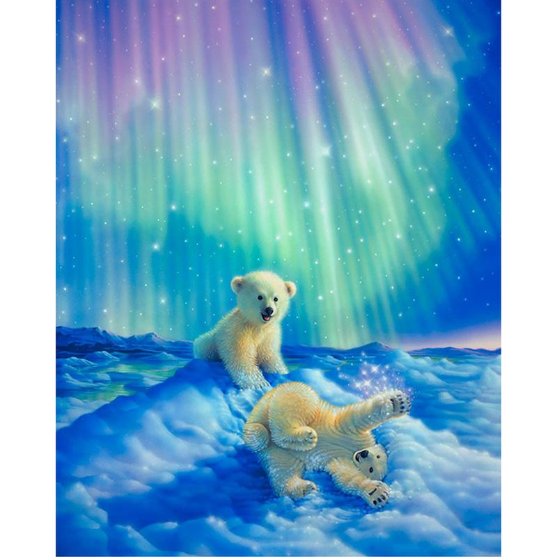 2019 Northern Lights Polar Bear DIY Diamond Painting