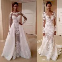 2017 African Wedding Dresses With Detachable Train Scoop ...