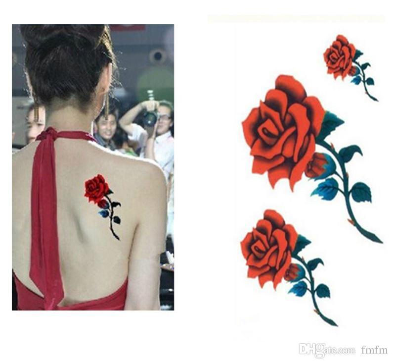 Sexy Rosas Rojas Diseño Resistente Al Agua Para Mujeres Personaje