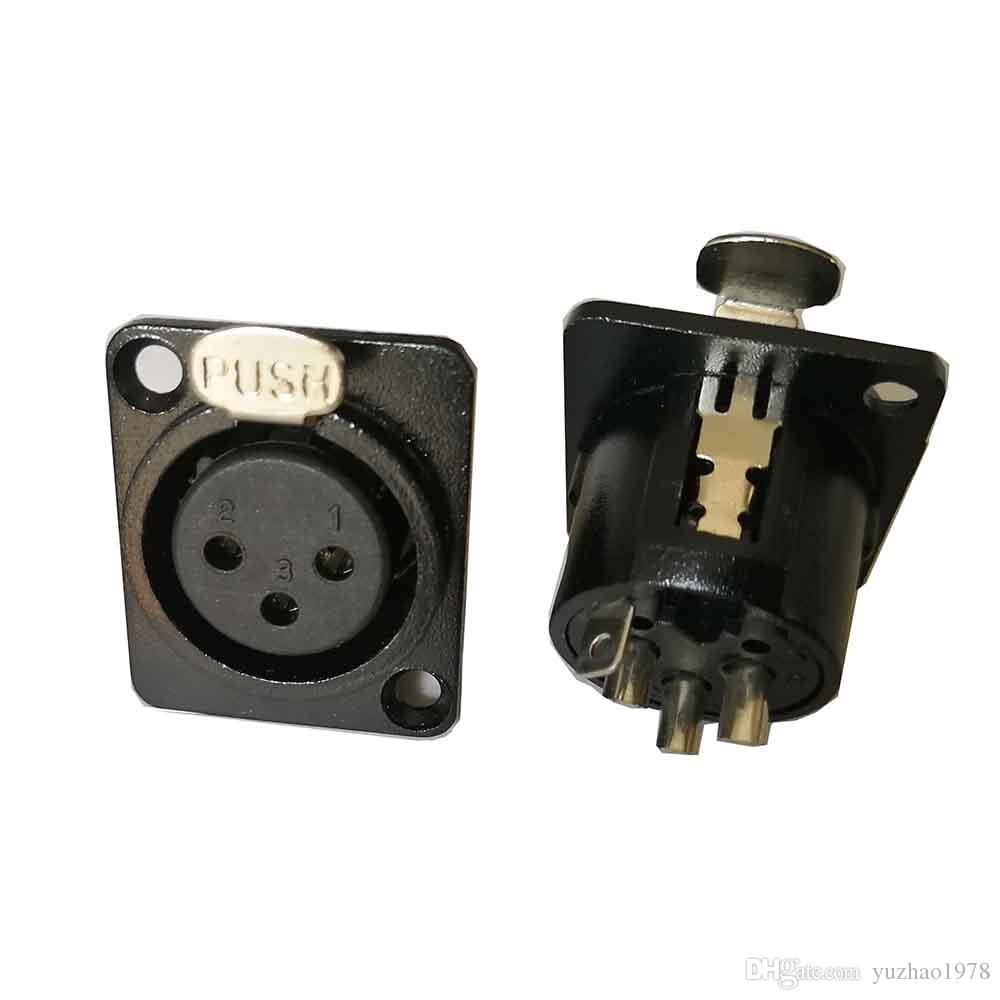 hight resolution of 2019 high quality new 3 pin 4 pin 5 pin xlr female socket chassis panel mount metal audio dmx video connector from yuzhao1978 18 1 dhgate com