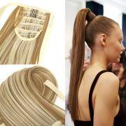 fake hair bandage ponytail