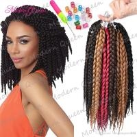 2018 Hot Kanekalon Box Braids Hair Crochet 12inch Crochet