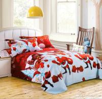 Santa Claus Red Bedding Set Merry Christmas Queen Size ...