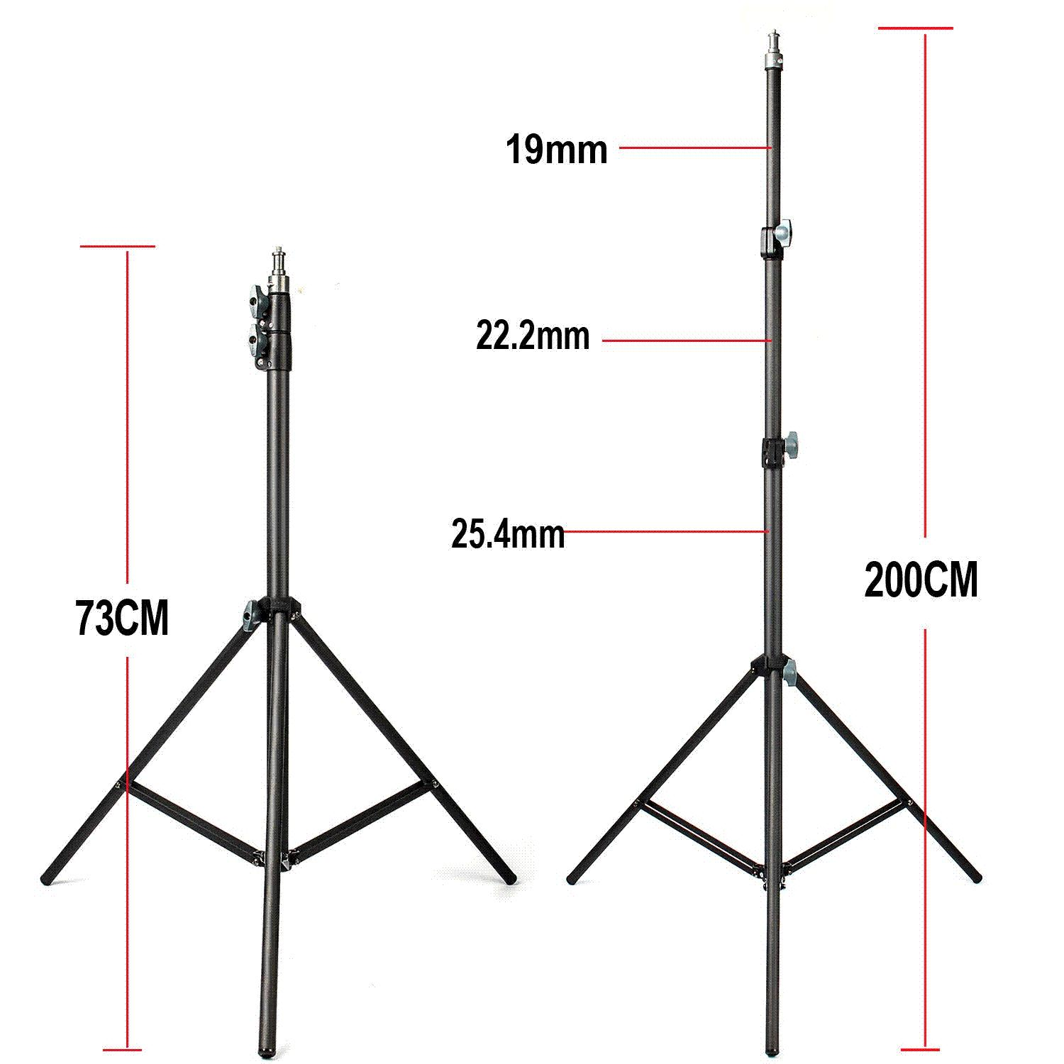 hight resolution of 2019 fotopal 2m light stand tripod with 1 4 screw head bearing weight 5kg for studio softbox flash umbrellas reflector lighting from xiaolei009