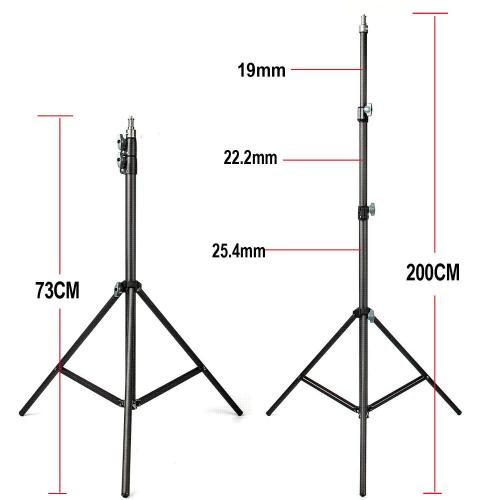 small resolution of 2019 fotopal 2m light stand tripod with 1 4 screw head bearing weight 5kg for studio softbox flash umbrellas reflector lighting from xiaolei009