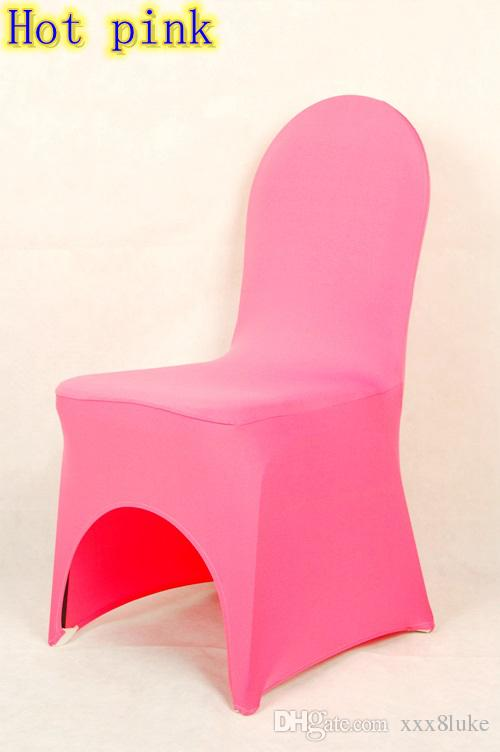hot pink spandex chair covers ikea harry slipcover colour lycra universal cover for wedding decoration on sale banquet arch front open dining room chairs