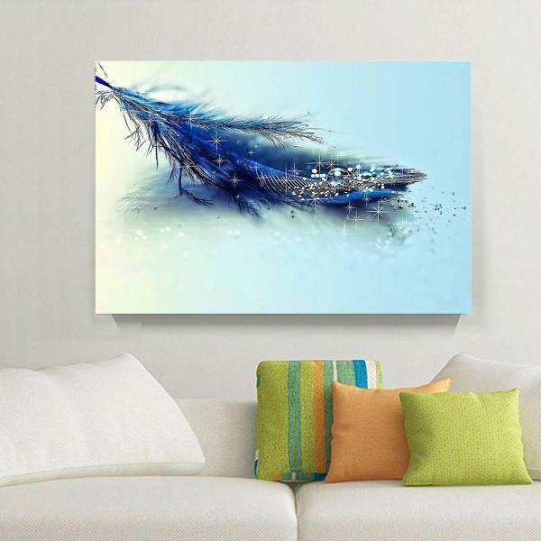Diamond Feather Wall Art Home