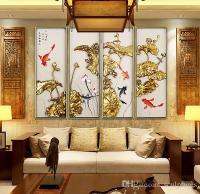2018 Handmade Abstract Asian Metal Wall Art Lotus Flower ...